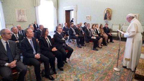 Encontro do papa Francisco com o Comitê de Biossegurança