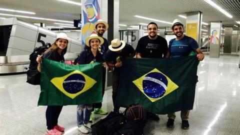 No avião de Roma a Cracóvia com peregrinos brasileiros