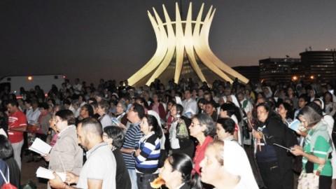 Consagrados manifestam contra a corrupção na Esplanada dos Ministérios