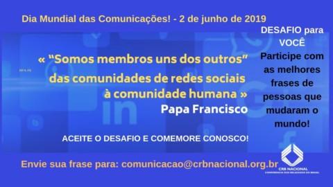 Convite para o evento do dia das comunicações