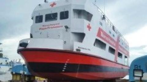 Barco Papa Francisco estará aberto para visitação na Escadinha