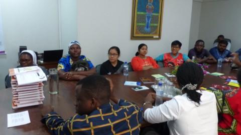 Visita dos missionários à CRB Nacional