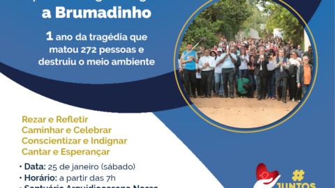 1ª Romaria da Arquidiocese de Belo Horizonte pela Ecologia Integral a Brumadinho: solidariedade e luta por justiça.
